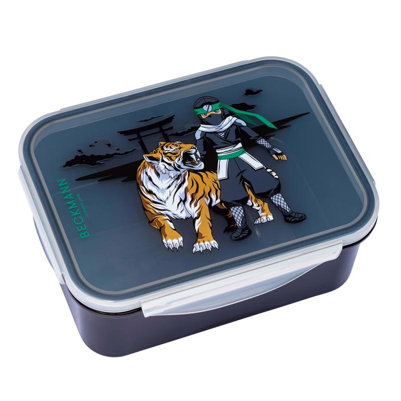 Beckmann Madkasse Ninja Tiger Sort m/mønster 1