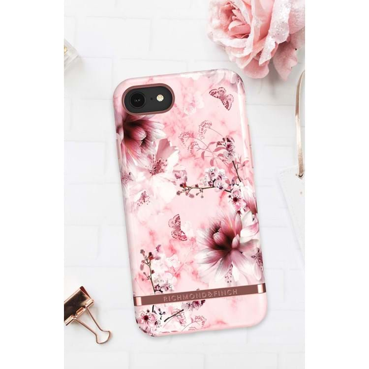 Richmond & Finch Mobilcover Pink Blomst 4