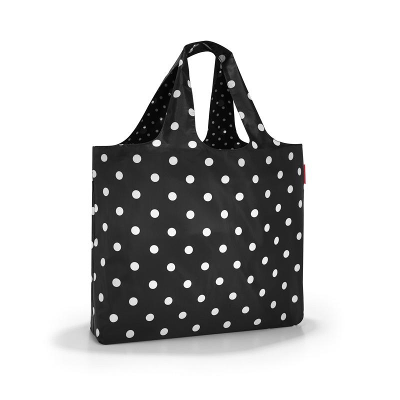 Reisenthel Shopper Mini Maxi Beachbag Sort M. Hvide prikker 1