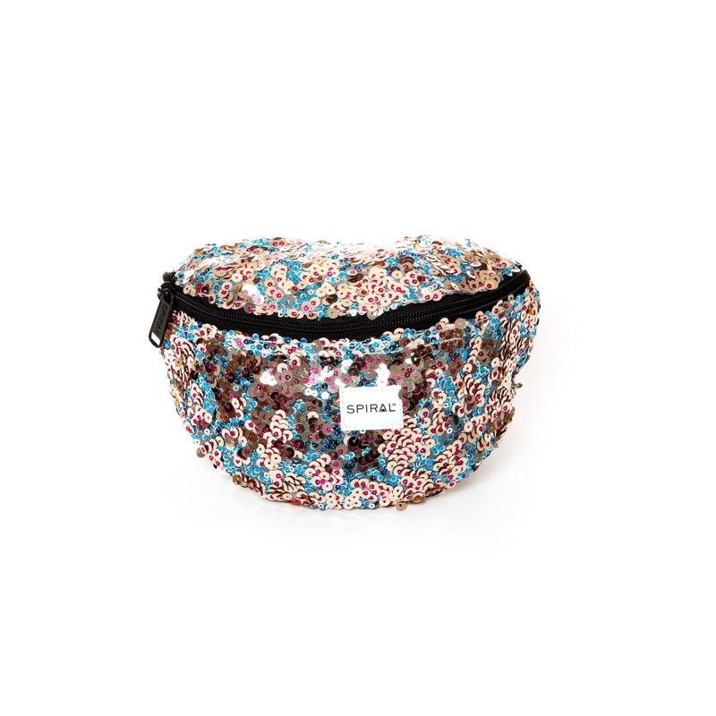 Spiral Bæltetaske Platinum Turkis/Pink 1