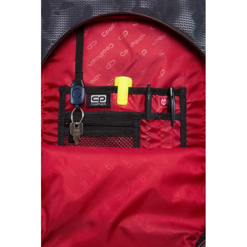 Coolpack Trolley Rygsæk Swift XL Grå/rød 5