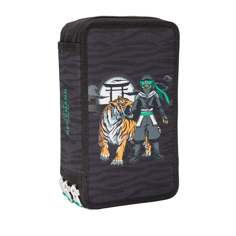Beckmann Penalhus Ninja Tiger 3-lags Sort m/mønster 1