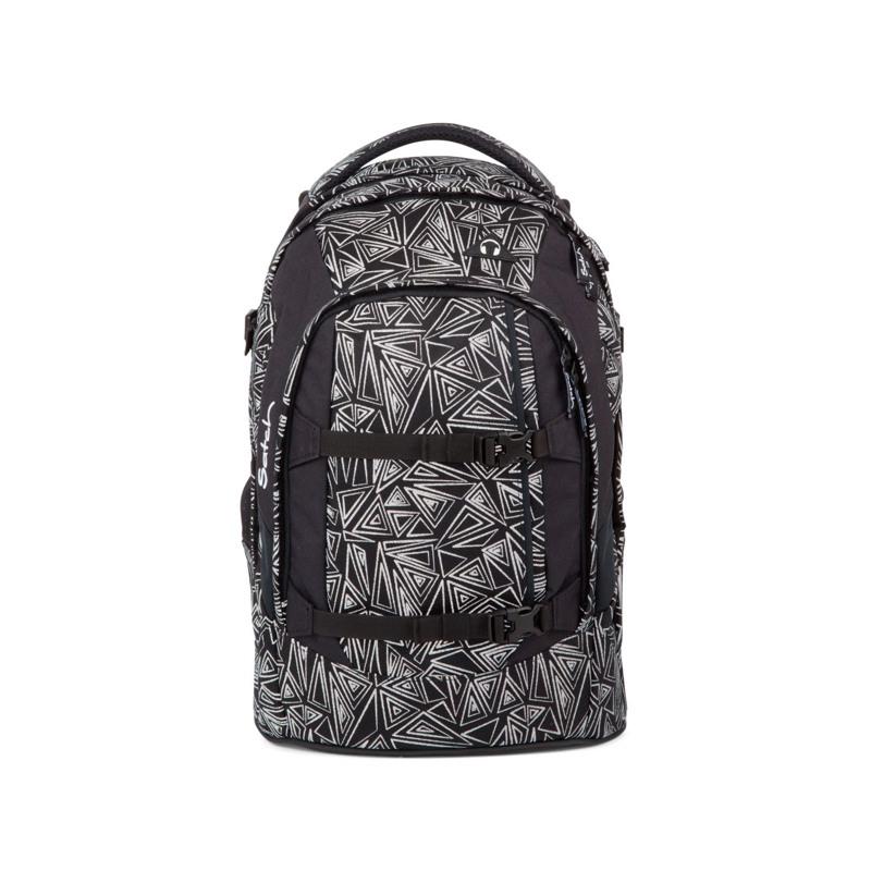 Satch Skoletaske Pack Sort m/mønster 1