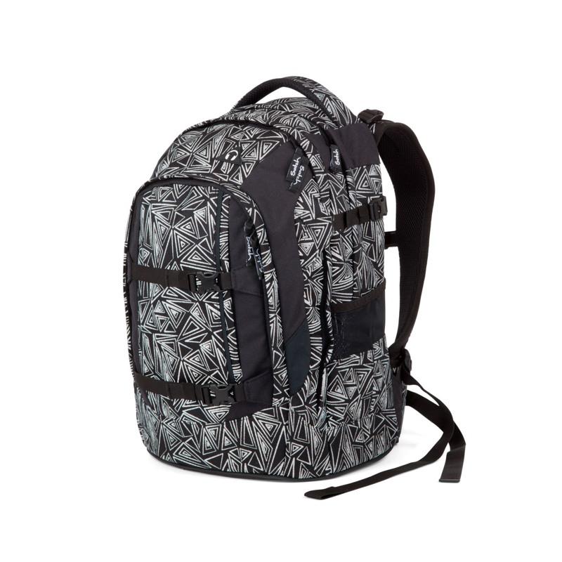 Satch Skoletaske Pack Sort m/mønster 2