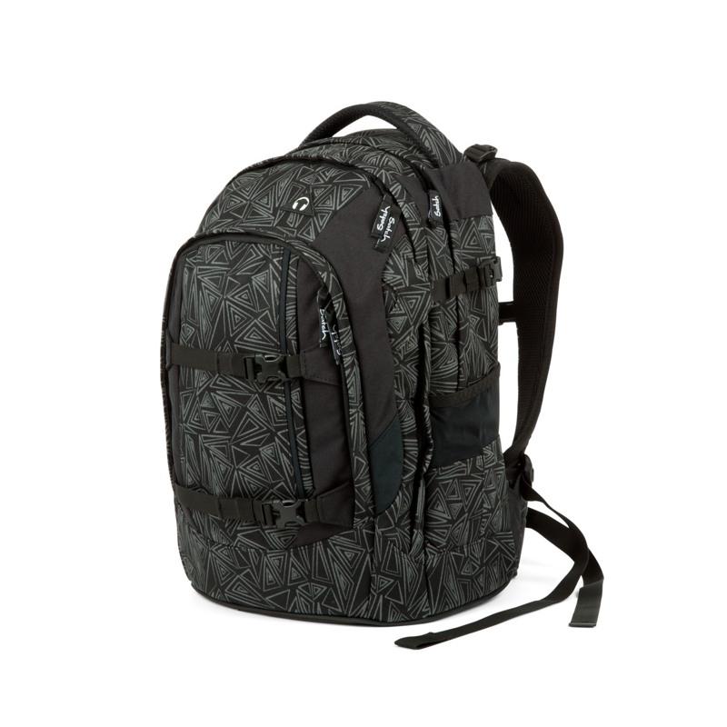 Satch Skoletaske Pack Sort m/mønster 4