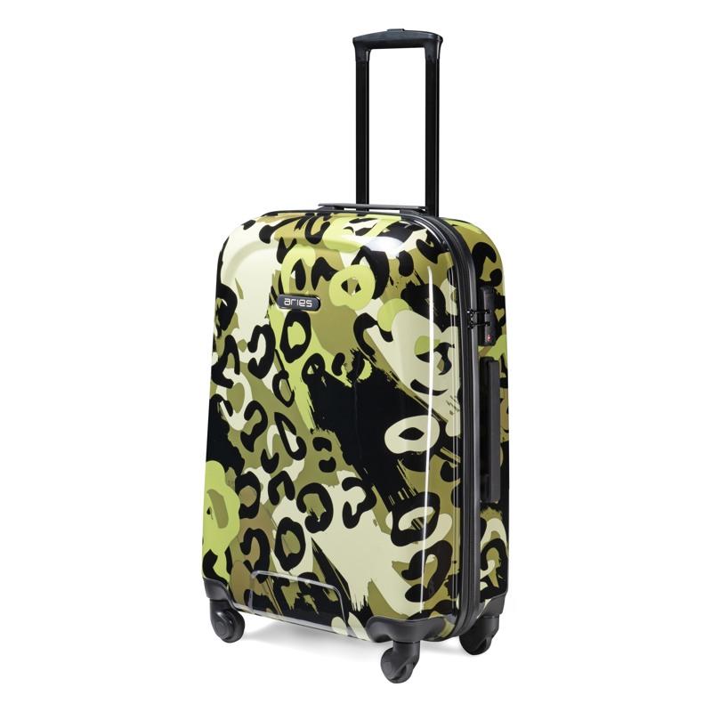 Aries Travel Kuffert Barcelona Grøn mønster 2