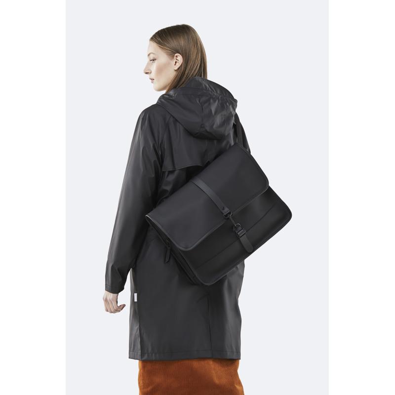 Rains Skuldertaske Commuter Bag Sort 3