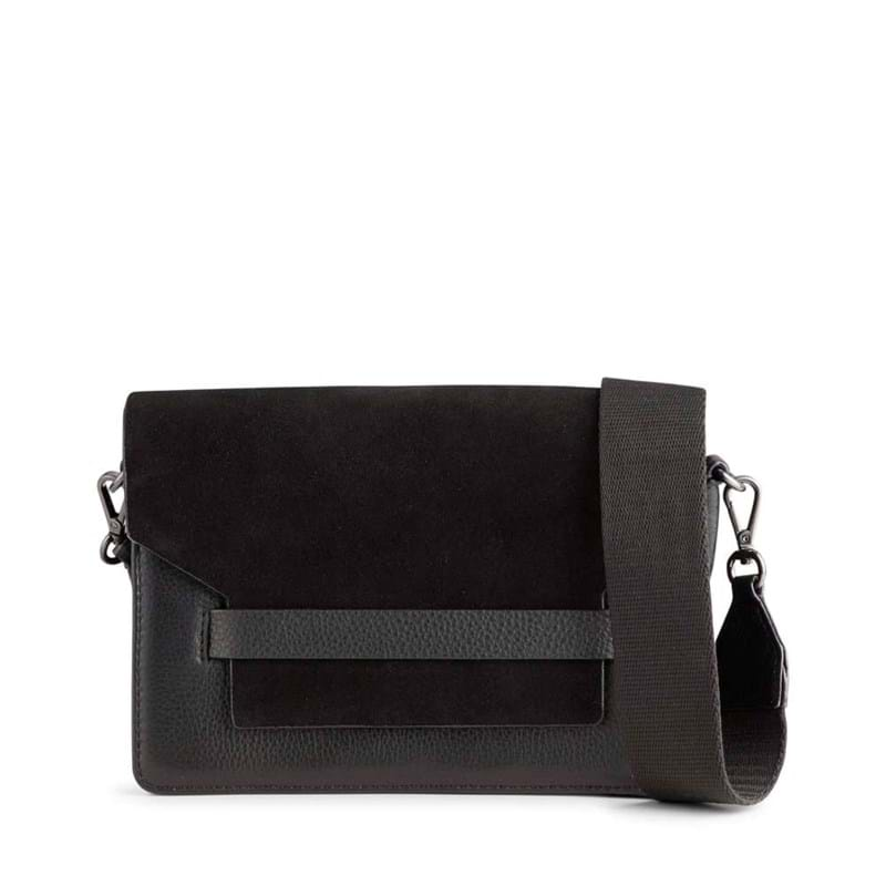 Markberg Crossbody Arabella Suede Mix Sort/Sort 1