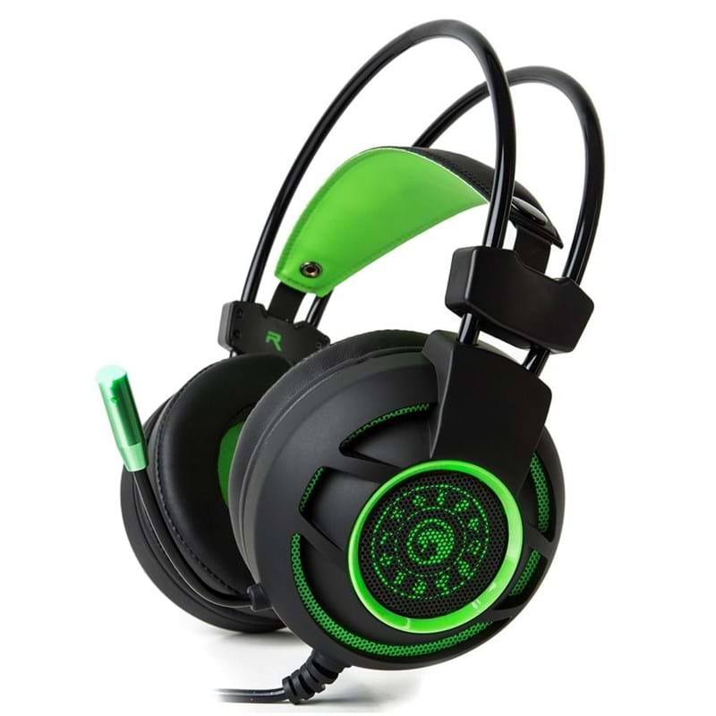 Marvo Gaming Headset Sort/Grøn 1
