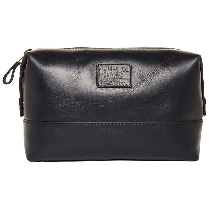 Superdry Toilettaske Leather Premium Sort 1