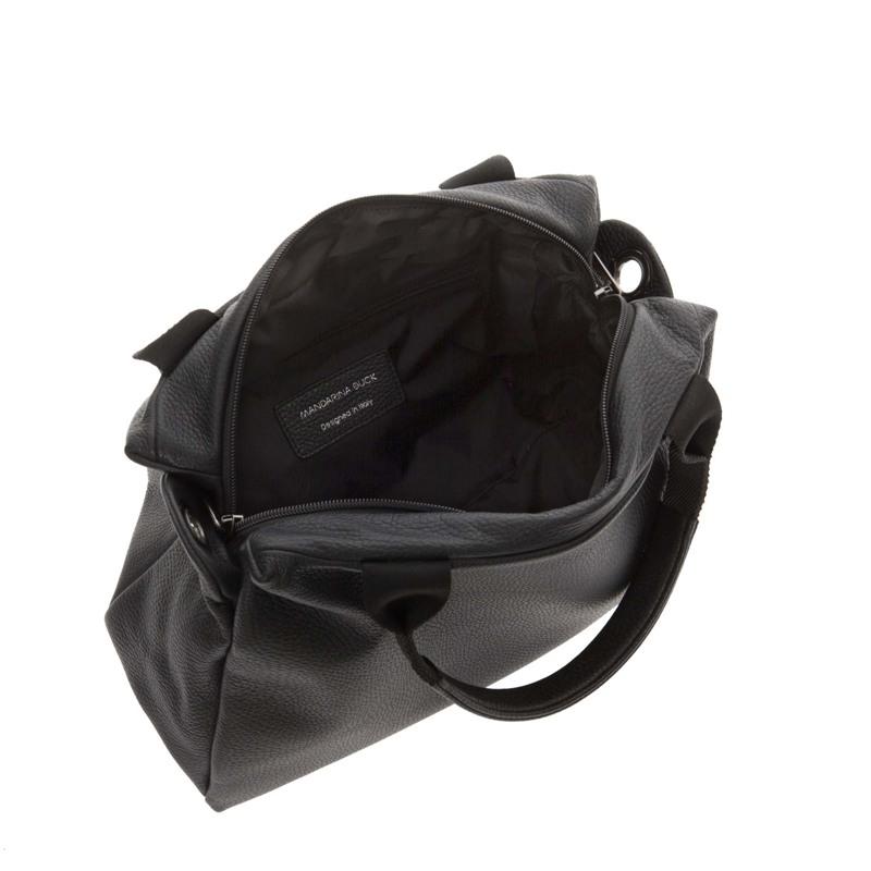 Mandarina Duck Skuldertaske Mellow Leather Sort motiv 2
