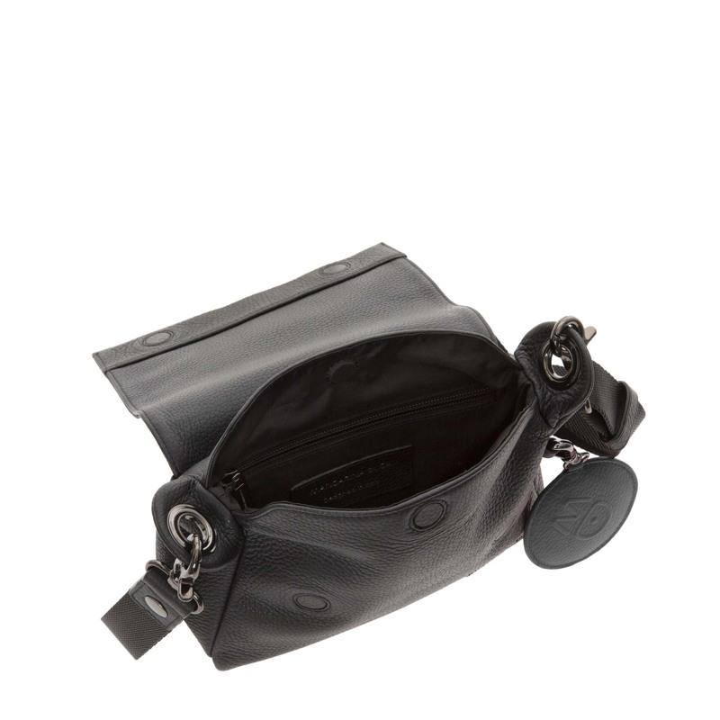Mandarina Duck Skuldertaske Mellow Leather Sort motiv 4