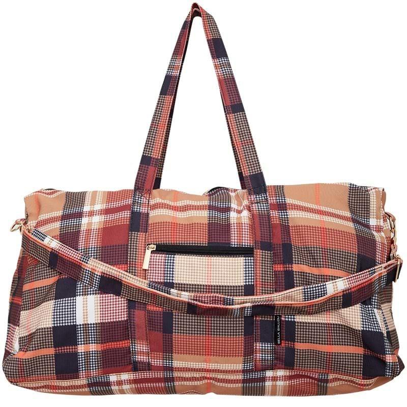 Bella Ballou Weekend Bag Check Brun 1