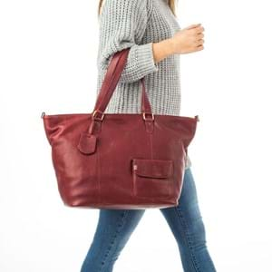 Burkely Shopper Wide Craft Caily Rød 5