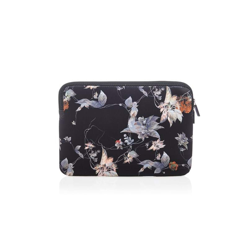 Trunk Laptop Sleeve Sort/med blomster 1