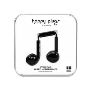 Happy Plugs Høretelefoner Earbud Plus Sort