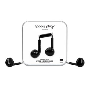 Happy Plugs Høretelefoner Earbud Plus Sort alt image
