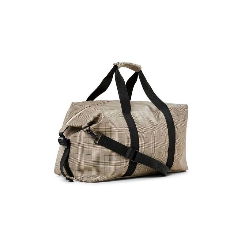 Rains Rejsetaske Check Weekend Bag Beige Tern 2