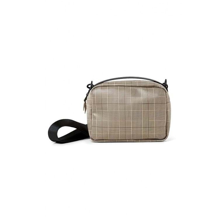 Rains Crossbody Check Box Bag Beige Tern 1