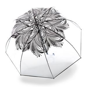 Knirps Paraply Stick Transparent med mønster alt image