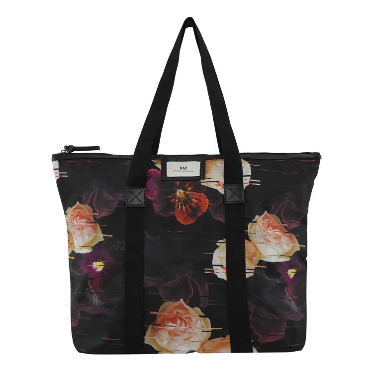Day et Shopper Day G P Distort Sort/med blomster 1
