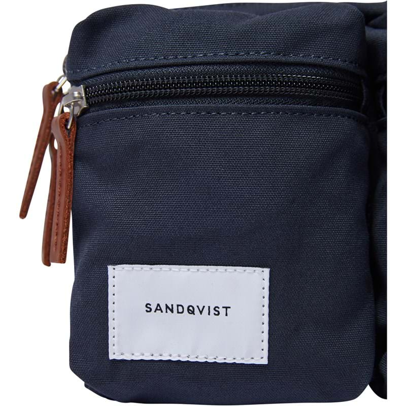 Sandqvist Bæltetaske Paul Navy/Cognac 4