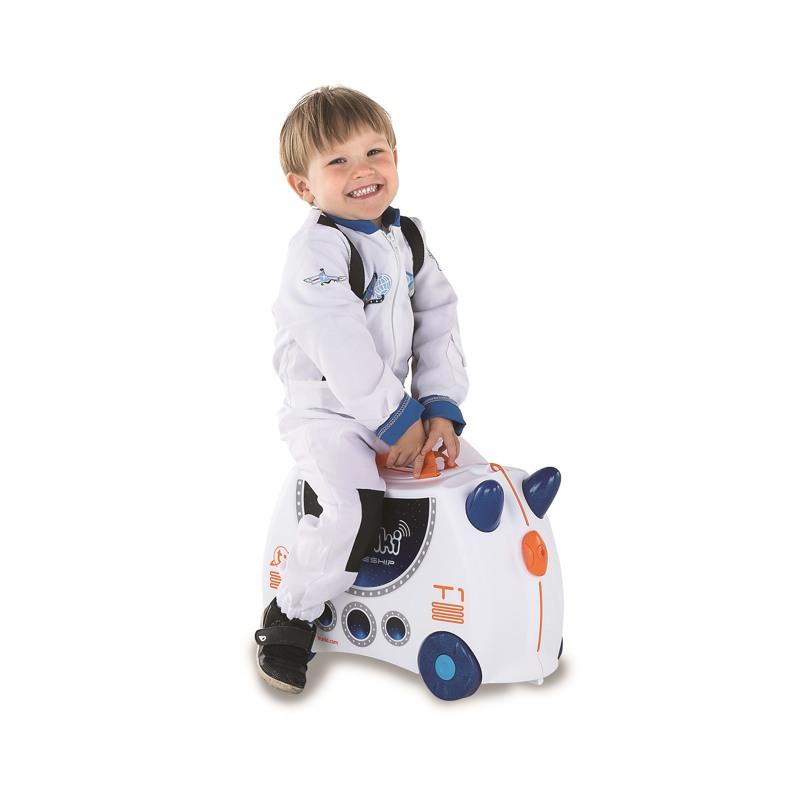 Trunki Børnekuffert med hjul Hvid/Navy 5