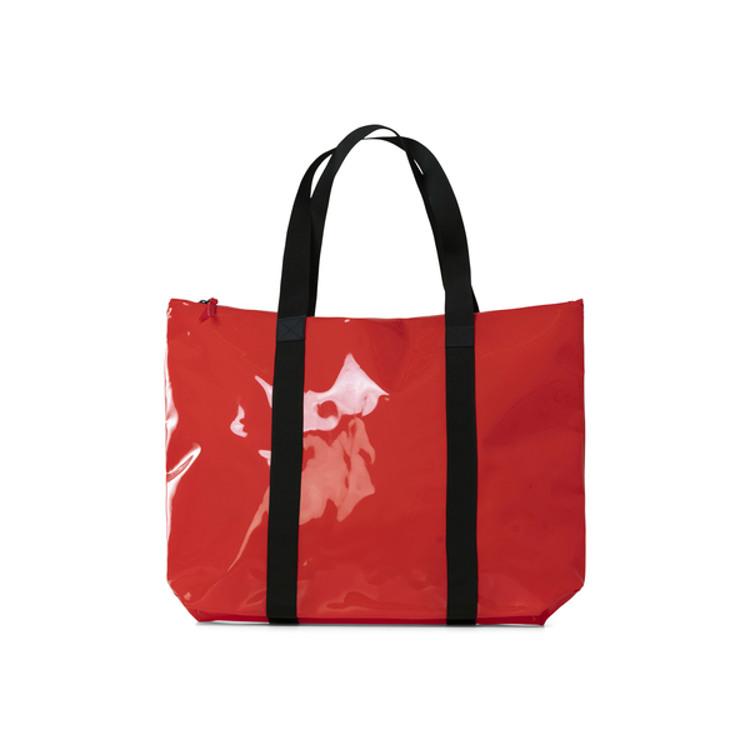 Rains Shopper Transparent Tote Bag Rød 1