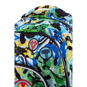 Coolpack Skoletaske Spark L LED  Grøn mønster 6