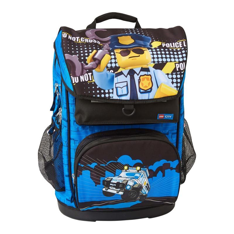 LEGO Skoletaske Maxi City Police  Blå/sort 1
