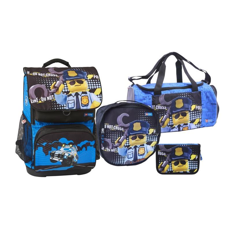 LEGO Skoletaskesæt Optimo City Poli Blå/sort 1