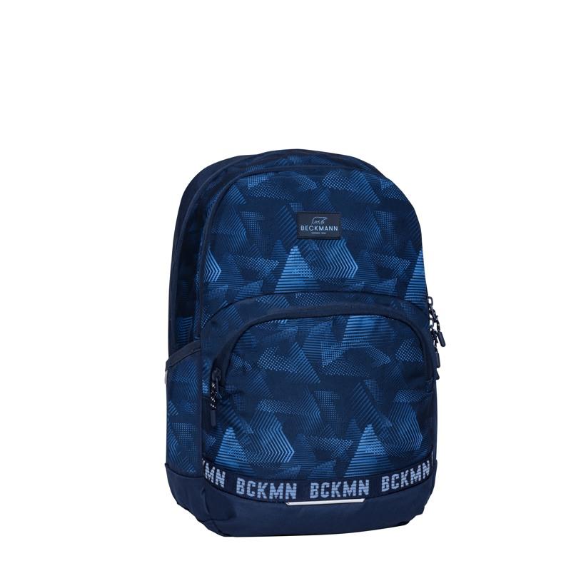 Beckmann Skoletaske Sport Jr. Blue Quar Blå/blå 2