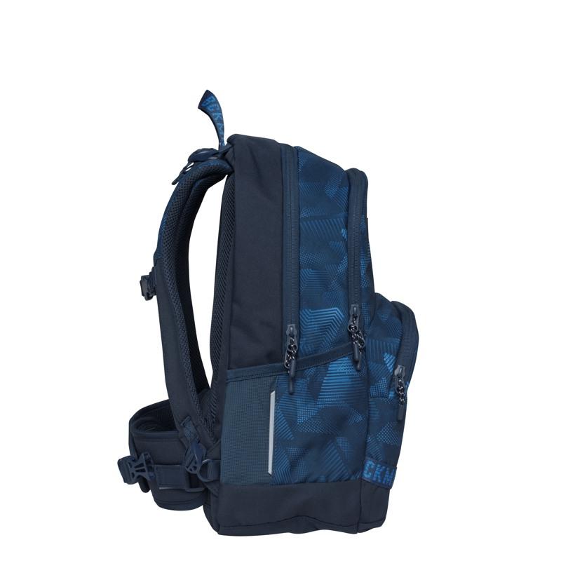 Beckmann Skoletaske Sport Jr. Blue Quar Blå/blå 3