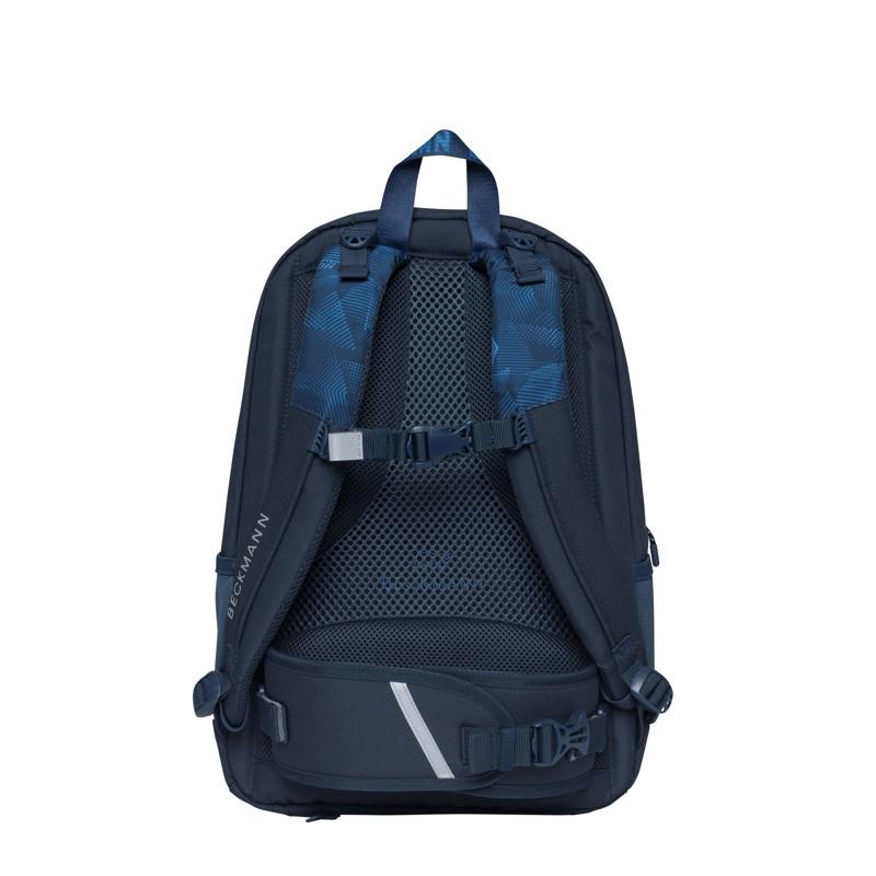 Beckmann Skoletaske Sport Jr. Blue Quar Blå/blå 4