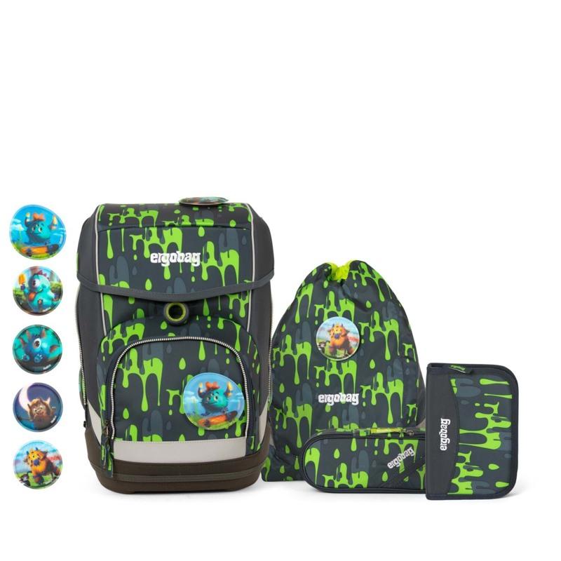 Ergobag Skoletaskesæt Cubo Grå/grøn 1
