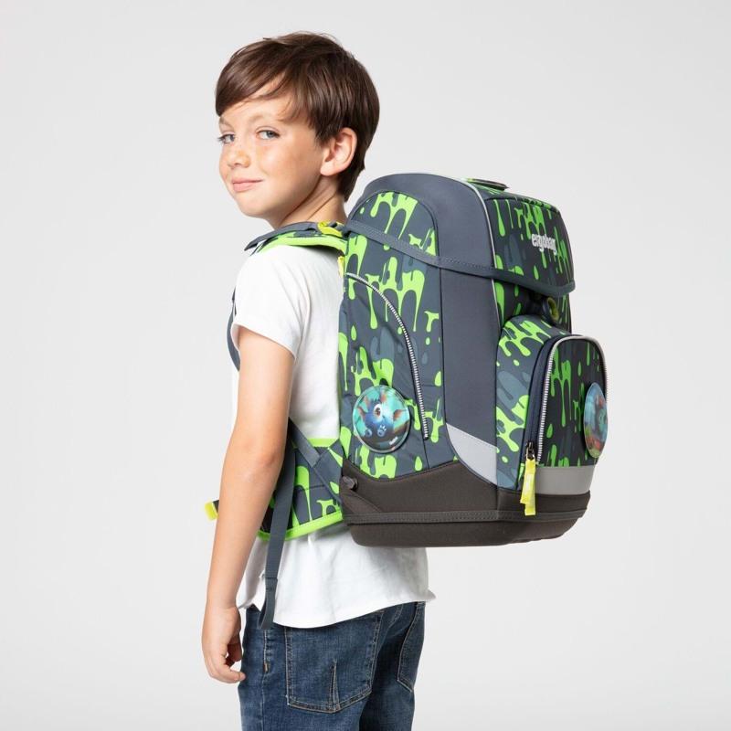Ergobag Skoletaskesæt Cubo Grå/grøn 7