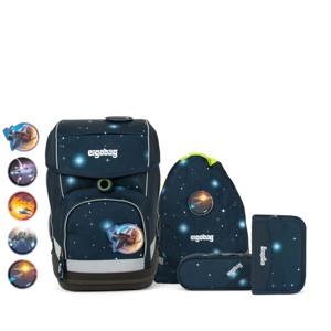 Ergobag Skoletaskesæt Cubo Glow Mørk blå