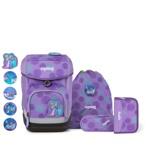 Ergobag Skoletaskesæt Cubo Glow Lilla