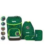 Ergobag Skoletaskesæt Cubo Lumi Grøn