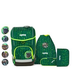 Ergobag Skoletaskesæt Cubo Lumi Grøn/Taupe