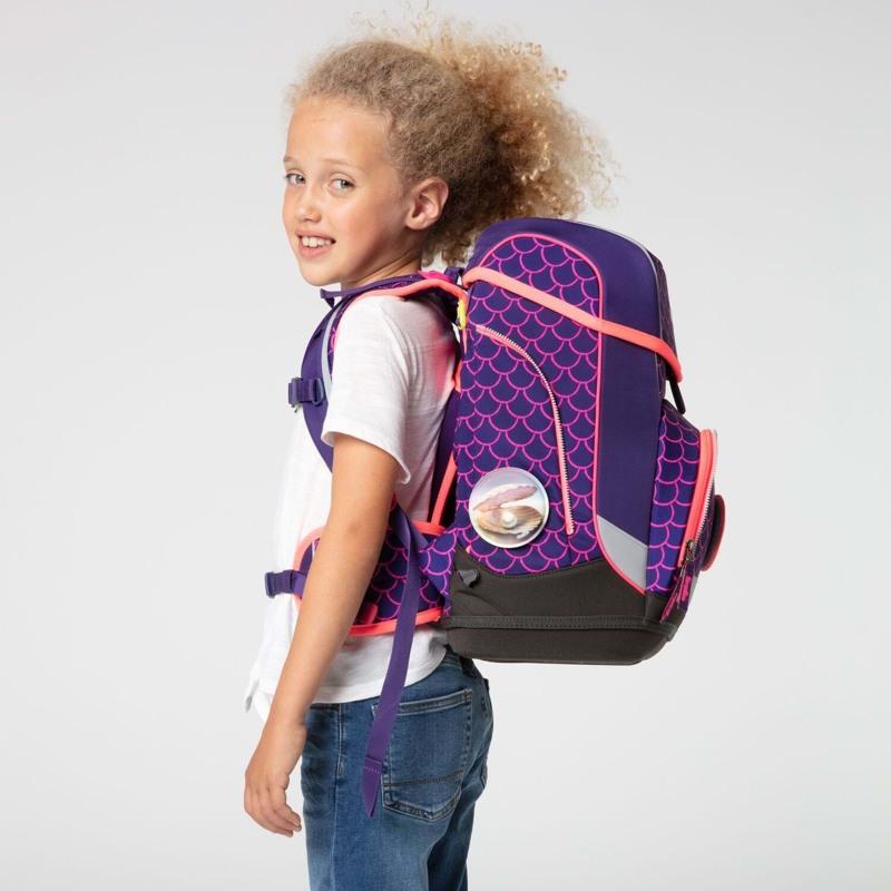 Ergobag Skoletaskesæt Cubo Lumi Pink/Grøn 7