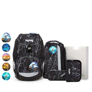 Ergobag Skoletaskesæt Pack Glow Sort