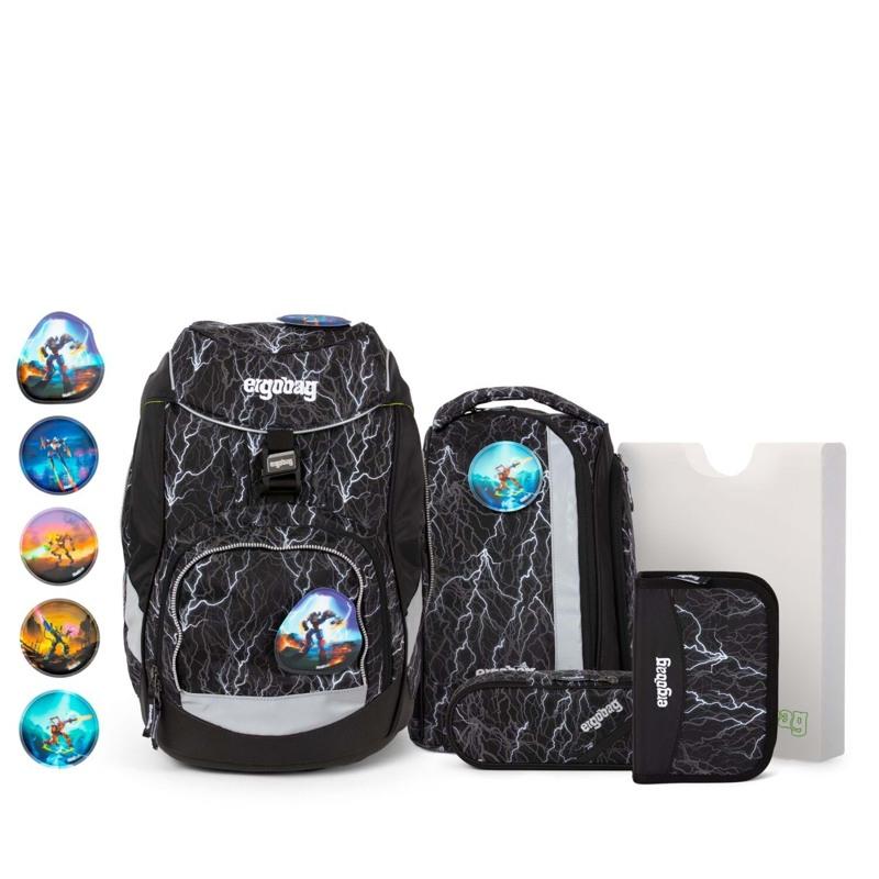 Ergobag Skoletaskesæt Pack Glow Sort/Hvid 1
