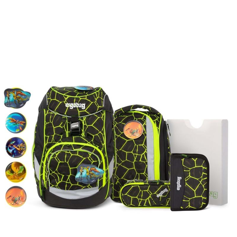 Ergobag Skoletaskesæt Pack Lumi Sort/Gul 1