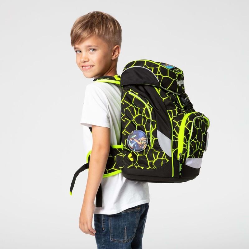 Ergobag Skoletaskesæt Pack Lumi Sort/Gul 7