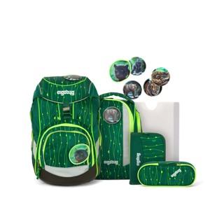 Ergobag Skoletaskesæt Pack Lumi Grøn mønster