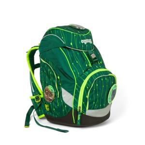 Ergobag Skoletaskesæt Pack Lumi Grøn mønster alt image