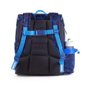 JEVA Skoletaske Intermediate Monste Blå/blå 3