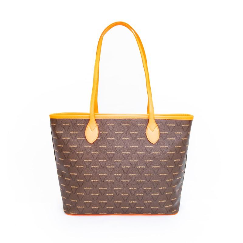 Valentino Handbags Shopper Liuto Fluo Orange 2
