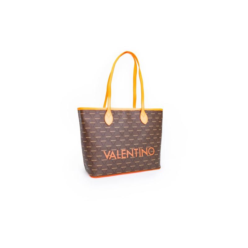 Valentino Handbags Shopper Liuto Fluo Orange 6